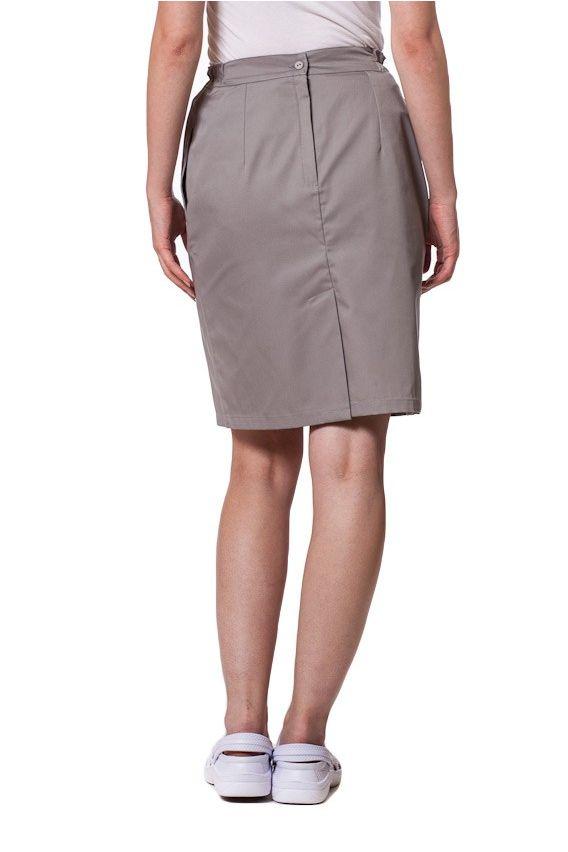 spodnice Spódnica medyczna z kieszeniami Sunrise Uniforms szara