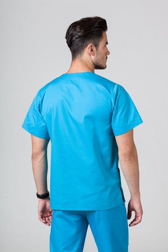 bluzy-medyczne-meskie Bluza medyczna uniwersalna Sunrise Uniforms turkusowa