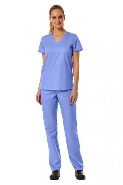 spodnie-medyczne-damskie Spodnie damskie Maevn EON Classic Yoga klasyczny błękit