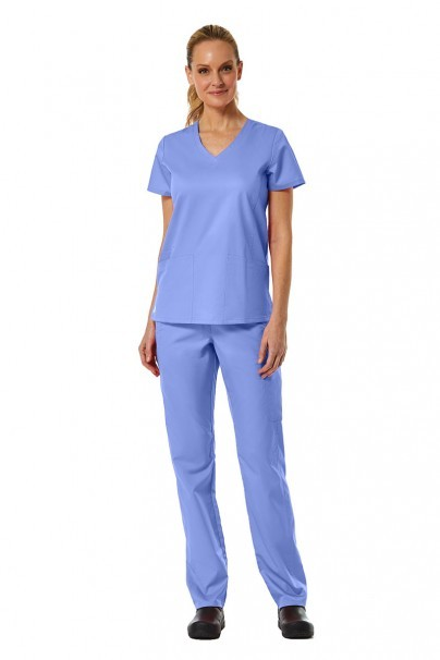 bluzy-medyczne-damskie Bluza damska Maevn EON Classic klasyczny błękit