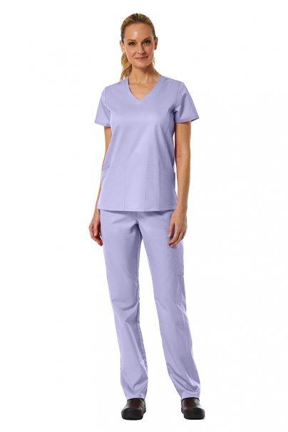 spodnie-medyczne-damskie Spodnie damskie Maevn EON Classic Yoga lawendowe