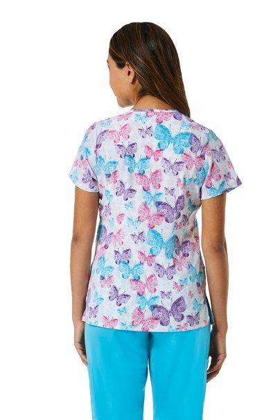 bluzy-we-wzory Kolorowa bluza damska Maevn Prints motyle