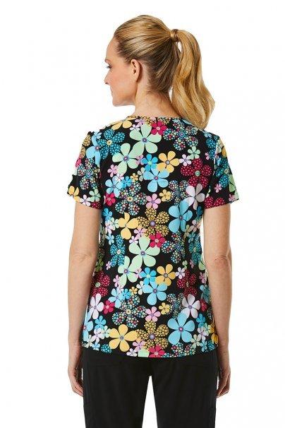 bluzy-we-wzory Kolorowa bluza damska Maevn Prints kolorowe kwiaty