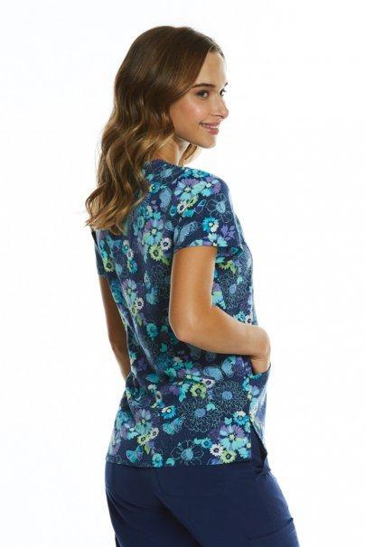bluzy-we-wzory Kolorowa bluza damska Maevn Prints łąka i motyle