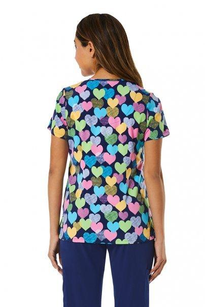 bluzy-we-wzory Kolorowa bluza damska Maevn Prints serca