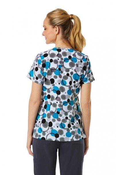 bluzy-we-wzory Kolorowa bluza damska Maevn Prints kropki i kółka