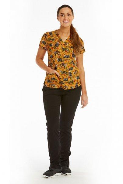 bluzy-we-wzory Kolorowa bluza damska Maevn Prints dzień kota