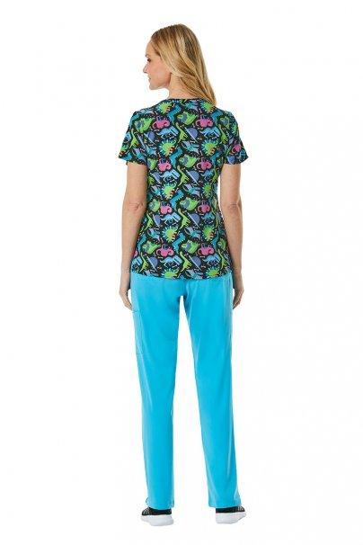 bluzy-we-wzory Kolorowa bluza damska Maevn Prints dinoland