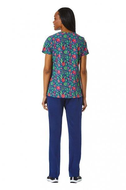 bluzy-we-wzory Kolorowa bluza damska Maevn Prints kwiatowe pole