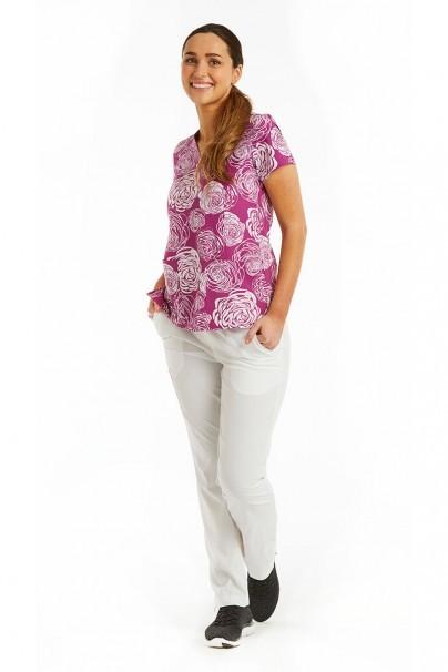 bluzy-we-wzory Kolorowa bluza damska Maevn Prints bujne kwiaty