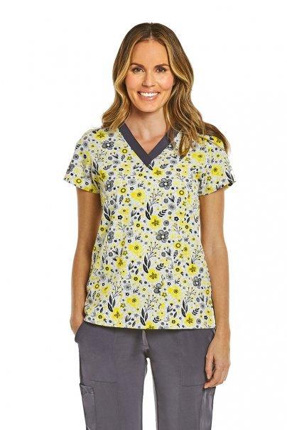 bluzy-we-wzory Kolorowa bluza damska Maevn Prints kwiatowa łąka