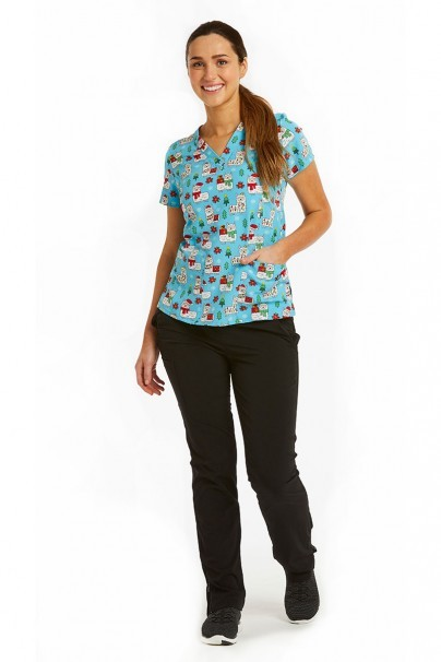 bluzy-we-wzory Kolorowa bluza damska Maevn Prints happy lama
