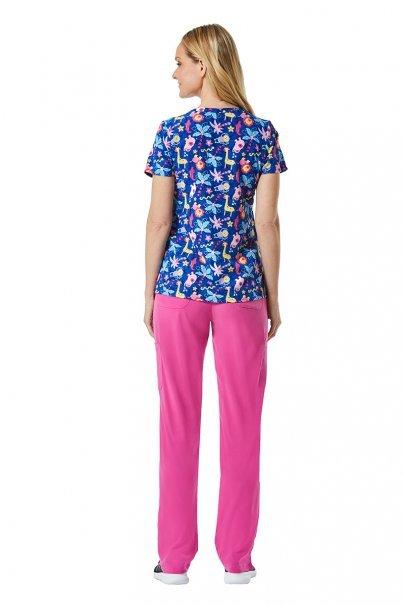 bluzy-we-wzory Kolorowa bluza damska Maevn Prints kolorowe zwierzaki