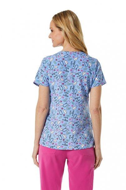 bluzy-we-wzory Kolorowa bluza damska Maevn Prints niezbędnik pielęgniarki