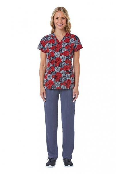 bluzy-we-wzory Kolorowa bluza damska Maevn Prints nocny ogród