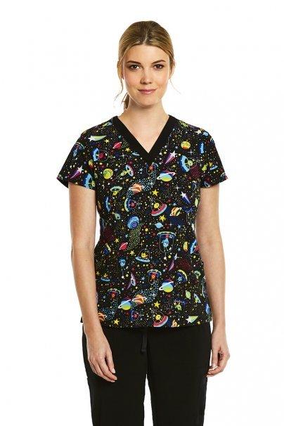 bluzy-we-wzory Kolorowa bluza damska Maevn Prints nie z tej ziemi