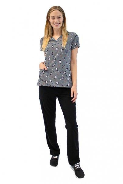 bluzy-we-wzory Kolorowa bluza damska Maevn Prints szalone pandy