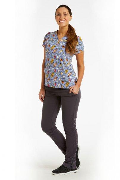 bluzy-we-wzory Kolorowa bluza damska Maevn Prints plac zabaw