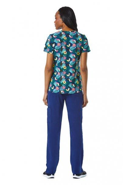 bluzy-we-wzory Kolorowa bluza damska Maevn Prints tukany