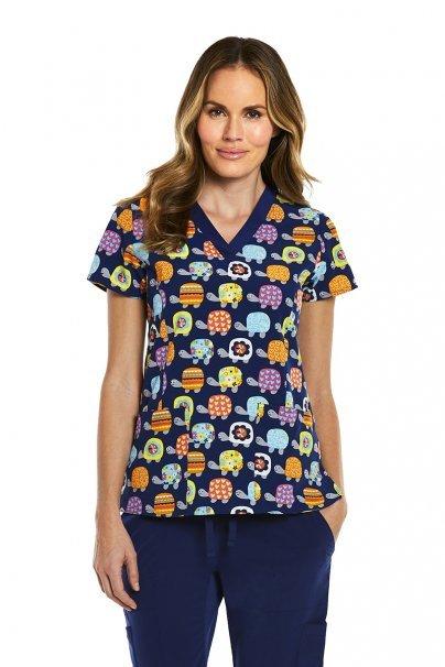 bluzy-we-wzory Kolorowa bluza damska Maevn Prints kolorowe żółwie