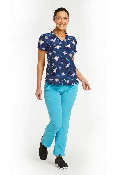 bluzy-we-wzory Kolorowa bluza damska Maevn Prints kosmiczne świnki