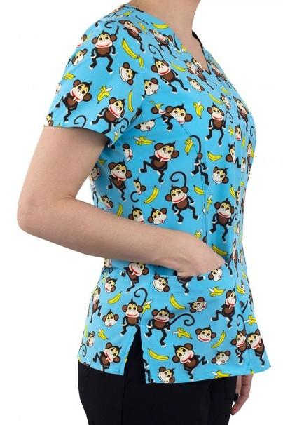 bluzy-we-wzory Kolorowa bluza damska Maevn Prints małpki