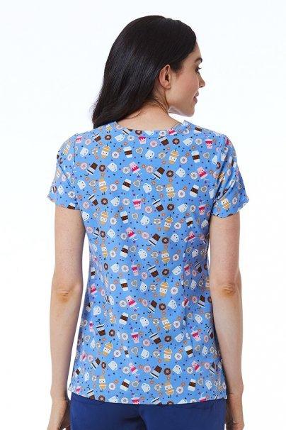 bluzy-we-wzory Kolorowa bluza damska Maevn Prints ciasteczkowo