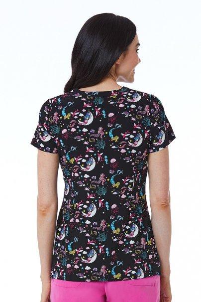 bluzy-we-wzory Kolorowa bluza damska Maevn Prints wodny świat
