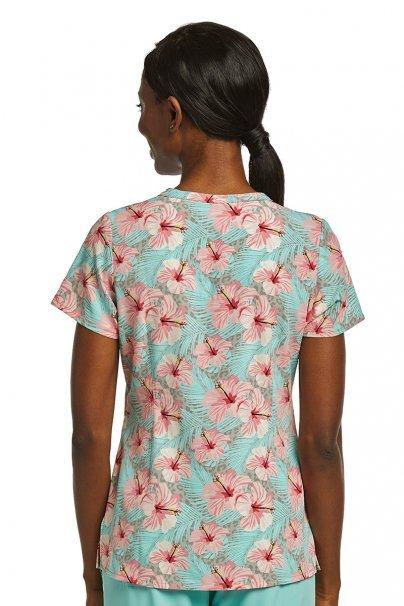 bluzy-we-wzory Kolorowa bluza damska Maevn Prints hibiskus z miętą