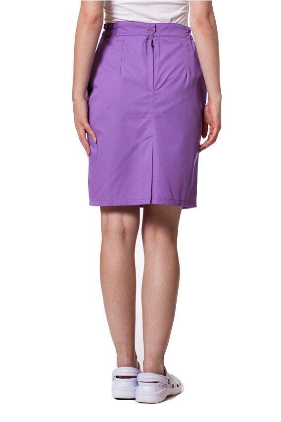 spodnice Spódnica medyczna z kieszeniami Sunrise Uniforms fioletowa