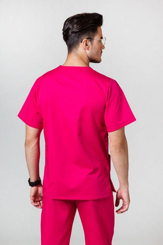 bluzy-medyczne-meskie Bluza medyczna uniwersalna Sunrise Uniforms malinowa