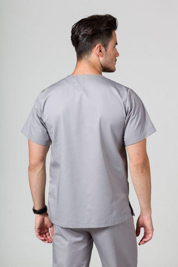 bluzy-medyczne-meskie Bluza medyczna uniwersalna Sunrise Uniforms szara