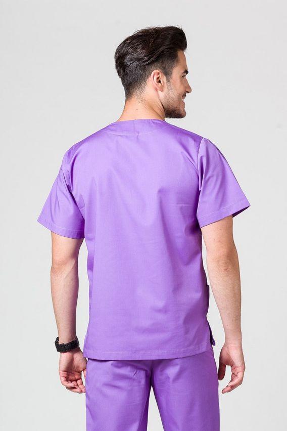 bluzy-medyczne-meskie Bluza medyczna uniwersalna Sunrise Uniforms fioletowa