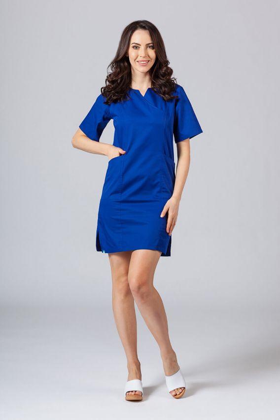 sukienki Sukienka medyczna damska klasyczna Sunrise Uniforms granatowa