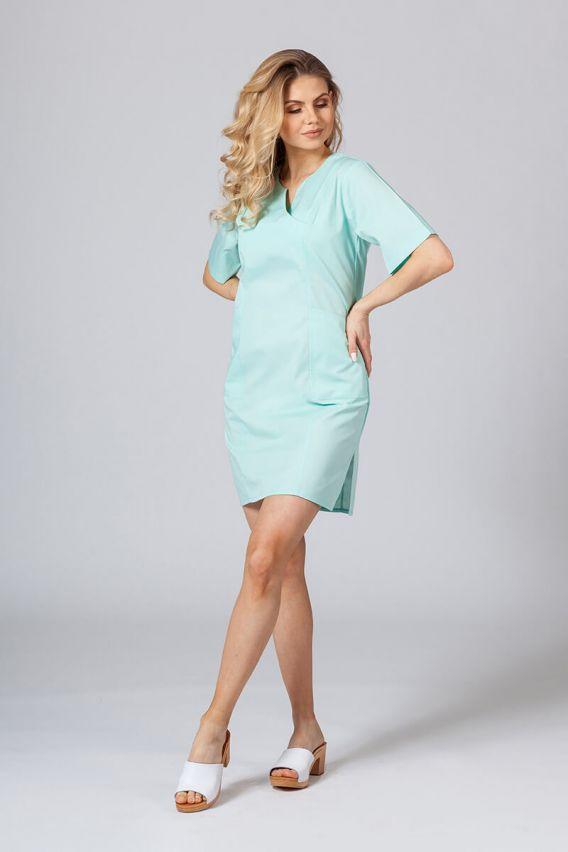 sukienki Sukienka medyczna damska klasyczna Sunrise Uniforms miętowa