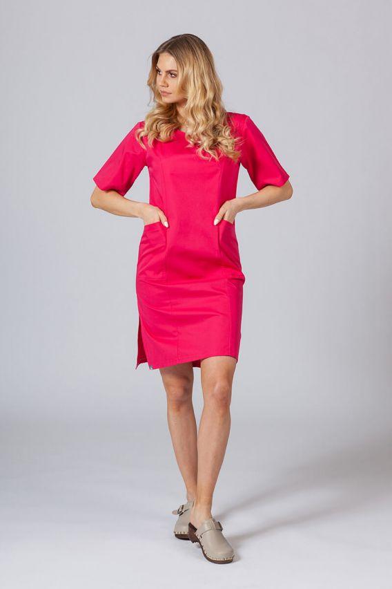 sukienki Sukienka medyczna damska klasyczna Sunrise Uniforms malinowa