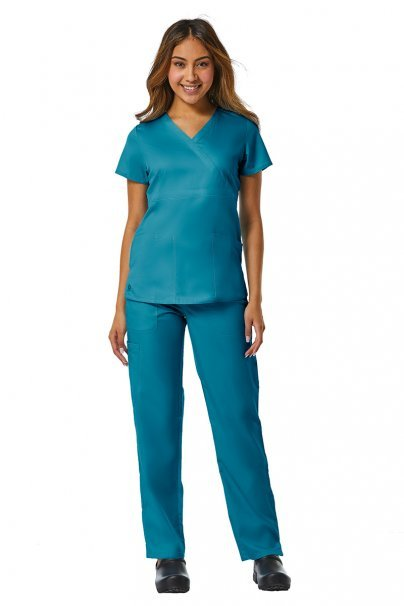 spodnie-medyczne-damskie Spodnie damskie Maevn EON Style morski błękit