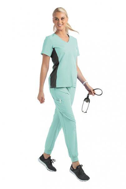 spodnie-medyczne-damskie Spodnie damskie Maevn Matrix Impulse Jogger miętowe