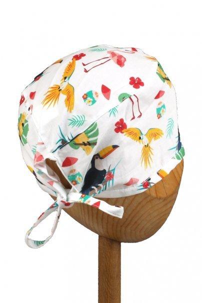 czepki-damskie Czepek Sunrise Uniforms Style Unisex flamingi, papugi i tukany