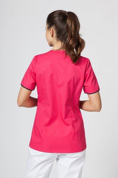 bluzy-medyczne-damskie Bluza medyczna damska na zamek Sunrise Uniforms malina/ciemny granat