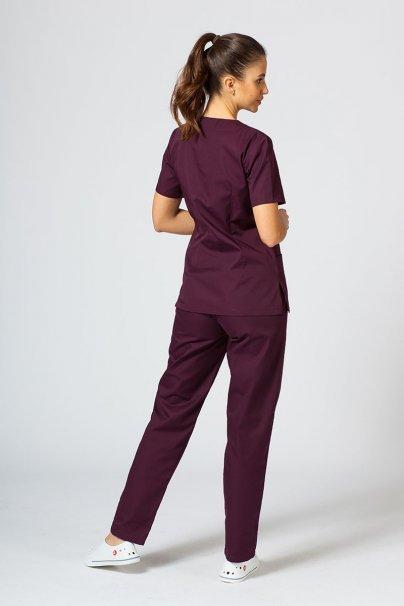komplety-medyczne-damskie Komplet medyczny Sunrise Uniforms burgundowy (z bluzą taliowaną)