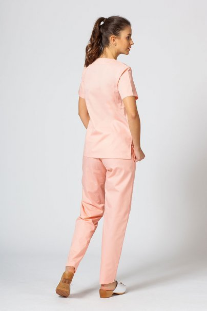 komplety-medyczne-damskie Komplet medyczny Sunrise Uniforms łososiowy (z bluzą taliowaną)