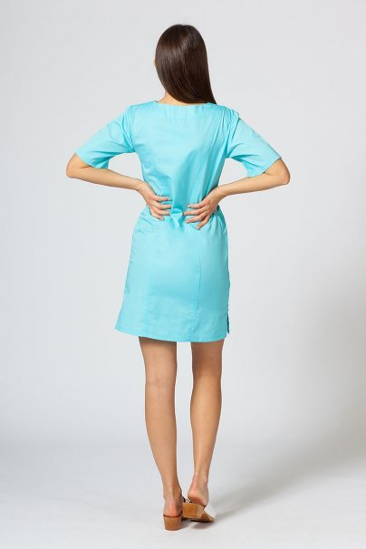 sukienki Sukienka medyczna damska klasyczna Sunrise Uniforms aqua