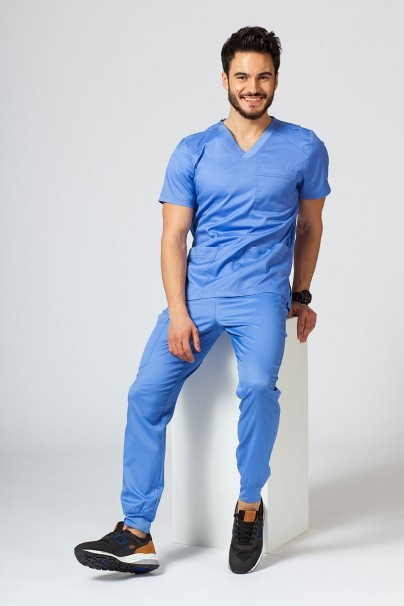 bluzy-medyczne-meskie Bluza męska Maevn Matrix Men klasyczny błękit