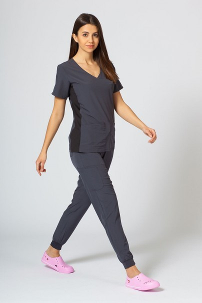 bluzy-medyczne-damskie Bluza damska Maevn Matrix Impulse Asymetric szara
