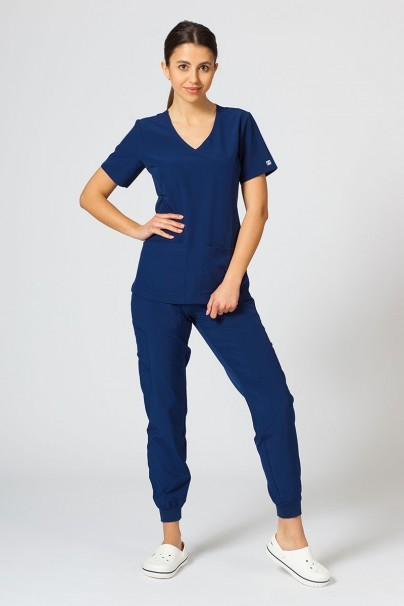 bluzy-medyczne-damskie Bluza damska Maevn Matrix Impulse Asymetric ciemny granat