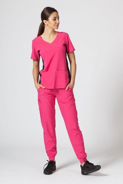bluzy-medyczne-damskie Bluza damska Maevn Matrix Impulse Asymetric różowa