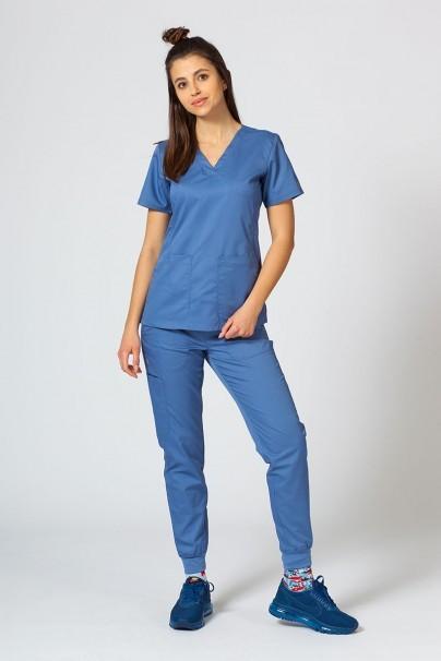 bluzy-medyczne-damskie Bluza damska Maevn EON Sporty & Comfy niebieska