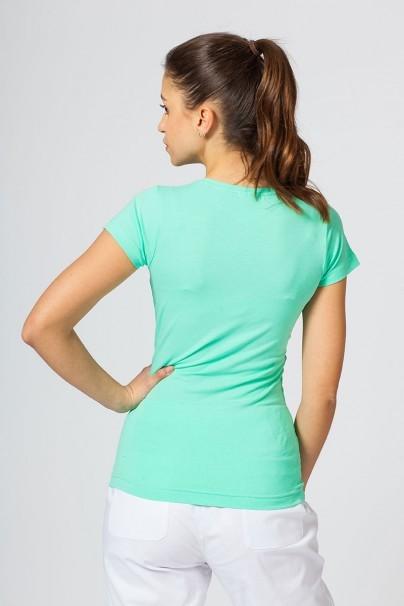 koszulki-medyczne-damskie Koszulka damska z krótkim rękawem miętowa