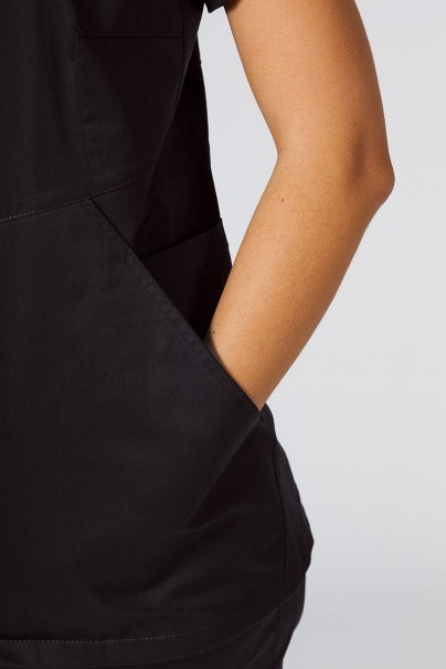 bluzy-medyczne-damskie Bluza medyczna damska Sunrise Uniforms Kangaroo (elastic) czarna